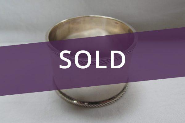 Silver Napkin Ring sold