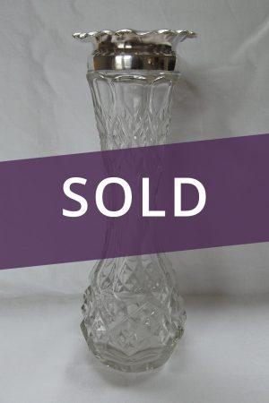 Edwardian silver vase sold