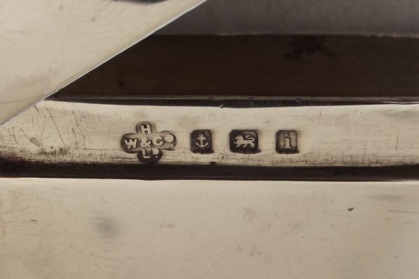 Hallmark on large silver vesta case