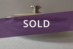 Silver plain dressing table box sold