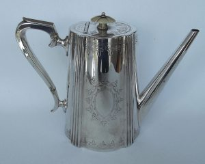 Silver plated coffee pot