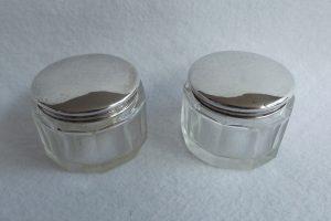 Silver rouge pots