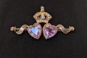 Victorian amethyst brooch