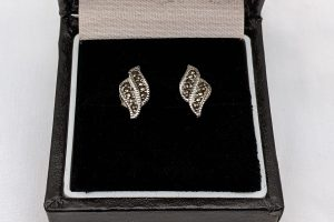 Marcasite stud earrings